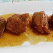Carrillera de cerdo ibérico al Pedro Ximénez por Mmm qué delicia plato principal 1